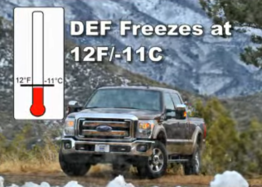WHAT IS THE FREEZING POINT OF DEF?